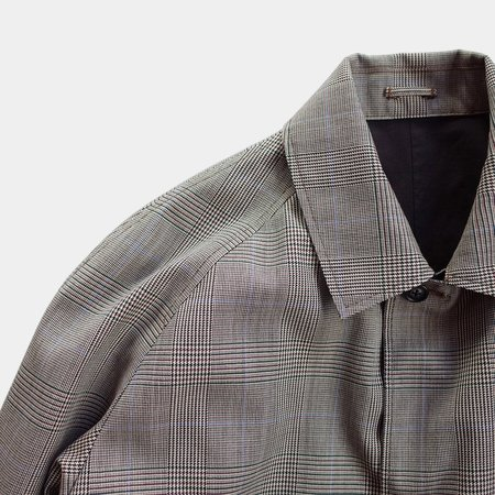 Still By Hand Reversible Coat - Grey Check