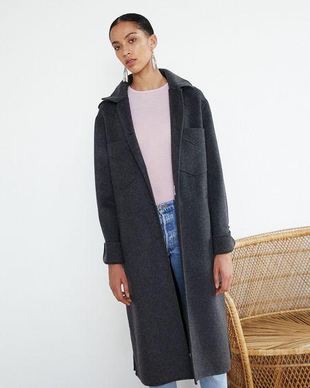 Nanushka Sabe Elongated Studio Coat - Charcoal