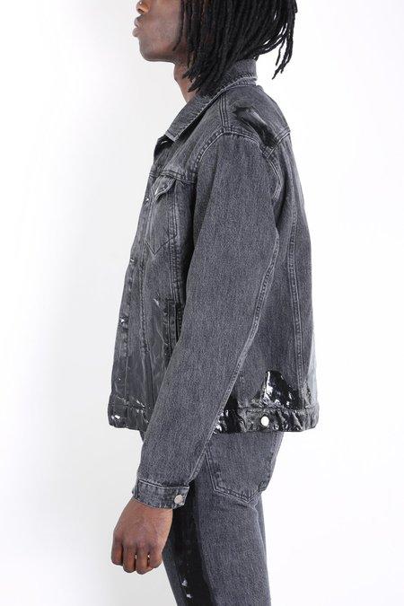 Misbhv Wet Print Denim Jacket - Black Washed