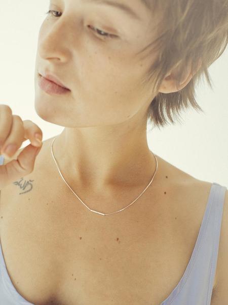 Saskia Diez Fine Infinity Cubic Necklace - Silver