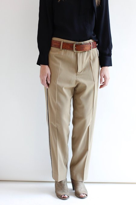 Giada Forte Side Ribbon Pant - Beige