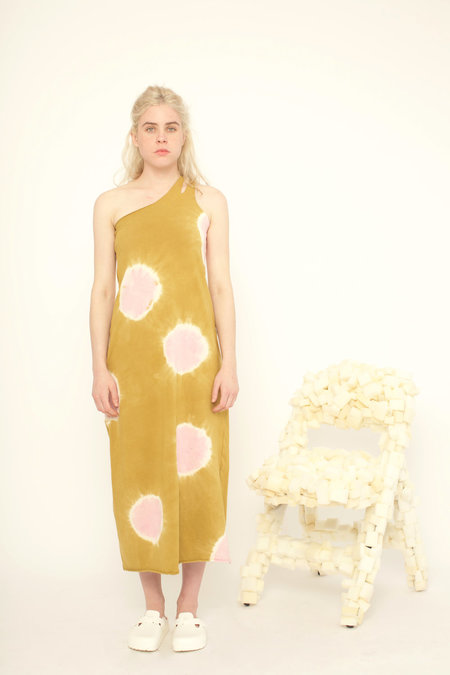 323 ONE SHOULDER DRESS - RADISH