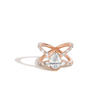 Shahla Karimi Pear X Ring
