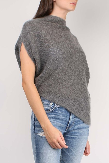 Paychi Guh Dreamy Popover top - Charcoal