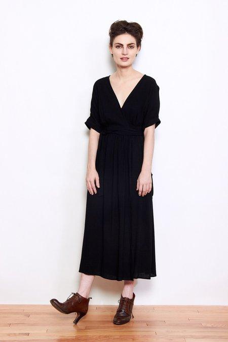 Shale Mare Susan Wrap Dress - Coal