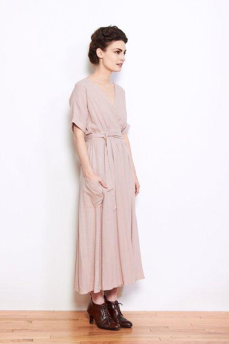 Shale Mare Susan Wrap Dress - Dusty Rose