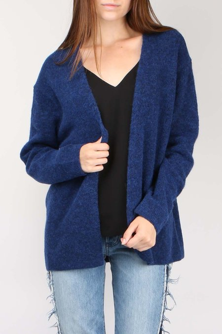 Closed Alpaca Mix Open Cardigan - Japanese Blue