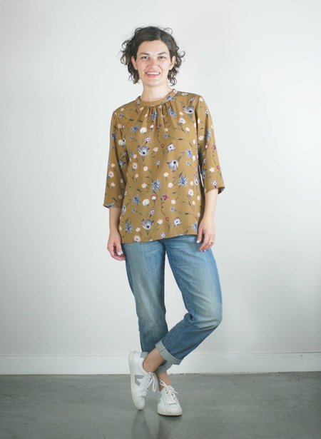 Dagg & Stacey Ingres Blouse - Toffee
