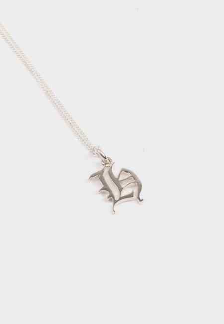 Meadowlark Small Capital Letter Necklace - Silver H
