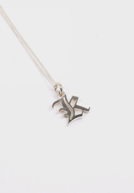 Meadowlark Small Capital Letter Necklace - Silver K