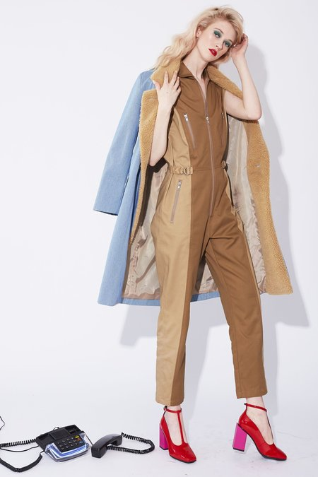 Kurt Lyle Kelly Jumpsuit - Chestnut/Tan