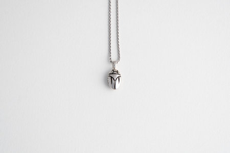 Muraco Wolfe Beetle Necklace - Silver