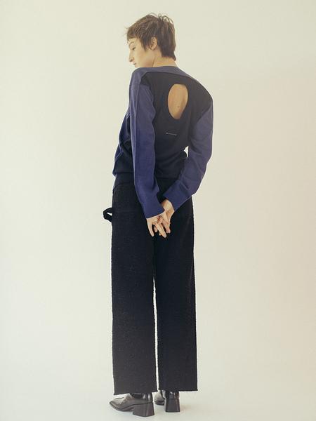 Maison Margiela MM6 Light Sweater Worn Two Ways - Blue