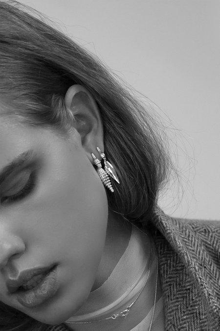 MM Druck Polished Duck Earrings - Sterling Silver