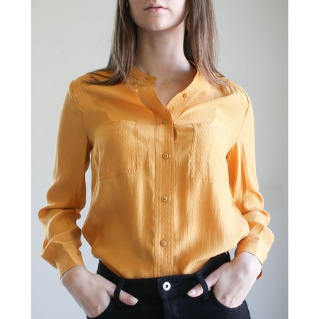 Apiece Apart Niels Simple Button Up Top - Creamsicle