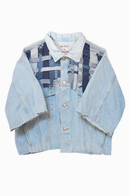 ANTIDOTE x WYLDE Braided Denim Jacket - Vintage light wash