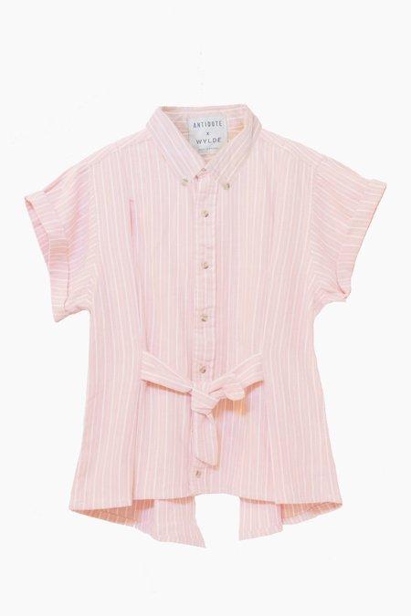 ANTIDOTE x WYLDE Striped Shirt - Pink