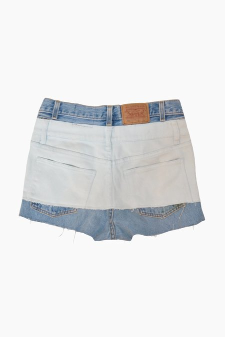 ANTIDOTE x WYLDE Two-tone Denim Shorts