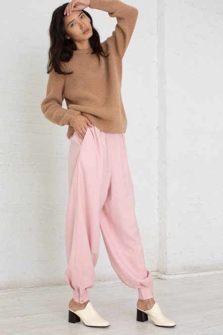 Baserange Aorta Raw Silk Pants - Lumbar Pink