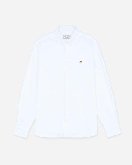Maison Kitsune Fox Head Patch Oxford Shirt - White