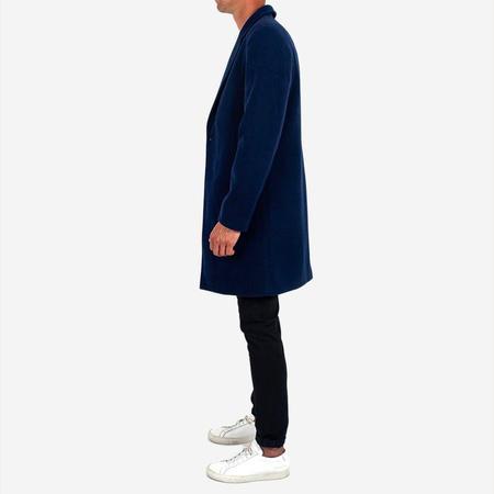 Dangerfield Cashmere/Wool Overcoat - Navy