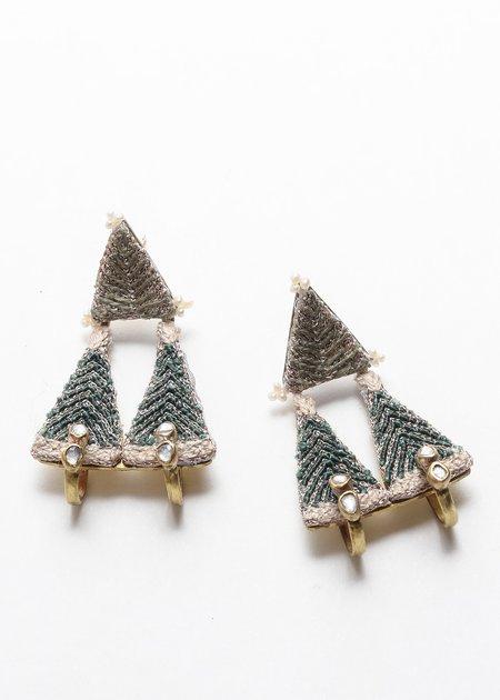 Nani Haveli Large Embroidery Earring