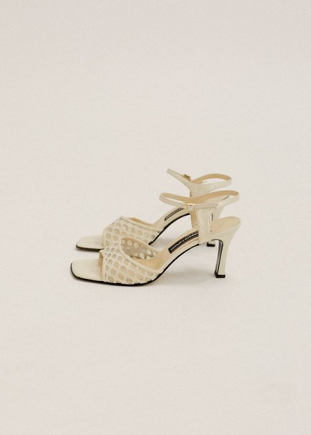 Pre by New Classics Vintage Roberto Capucci Sandals - Cream