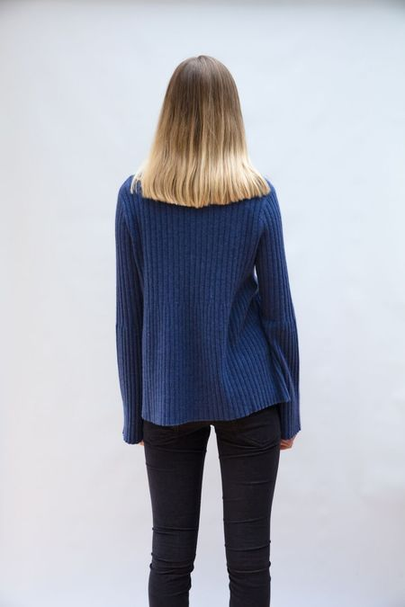 Allude Ribbed Sweater - Forget Me Not