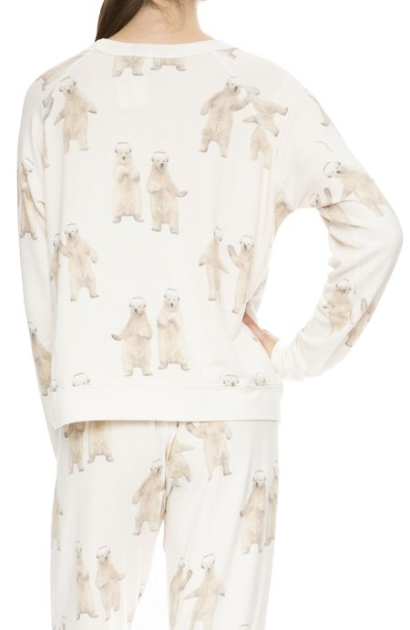 All Things Fabulous Boogie Bear Cozy Sweatshirt - Natural