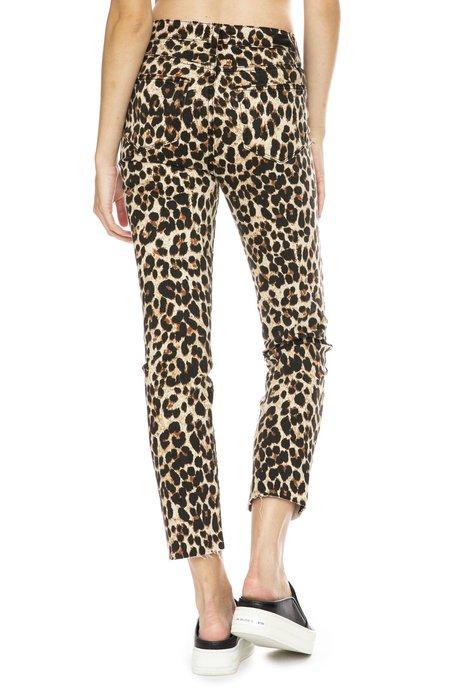 Paige Premium Denim Hoxton Straight Ankle Jeans - Sahara Leopard