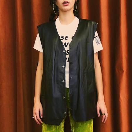 Aalto Oversized Leather Vest