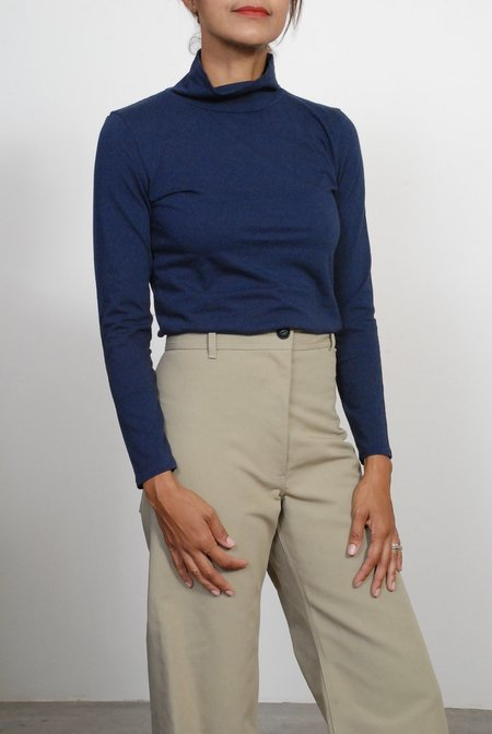 Creatures of Comfort Turtleneck Top - Navy