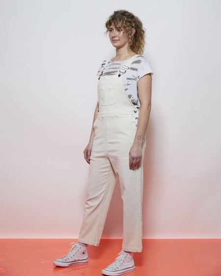 Lacausa MARCELL OVERALLS - Parchment