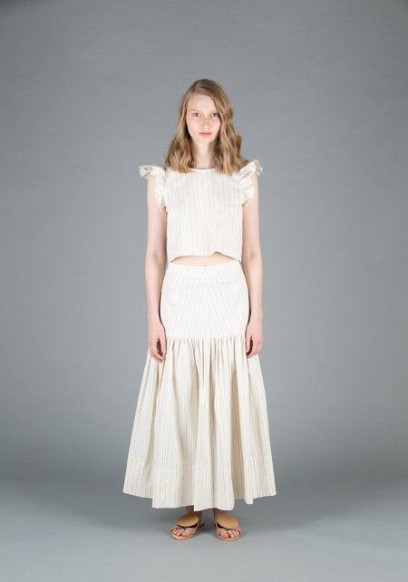 Creatures of Comfort Mailer Skirt - NAVY STRIPE