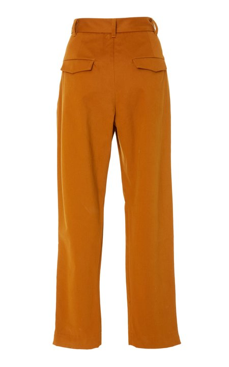 Chistine Alcalay Cotton Twill Pleated Trouser