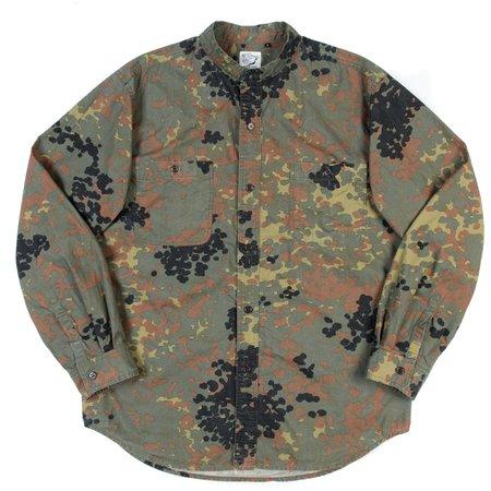 Orslow Stand Collar Long Sleeve Shirt - German Camo