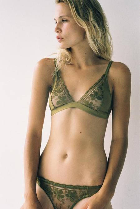 Lonely Hearts Effie Bra - Chartreuse