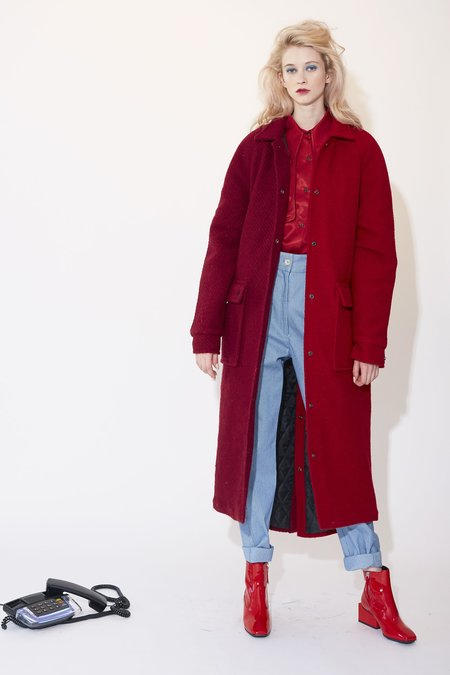 Kurt Lyle Loretta Coat - Burgundy/Red