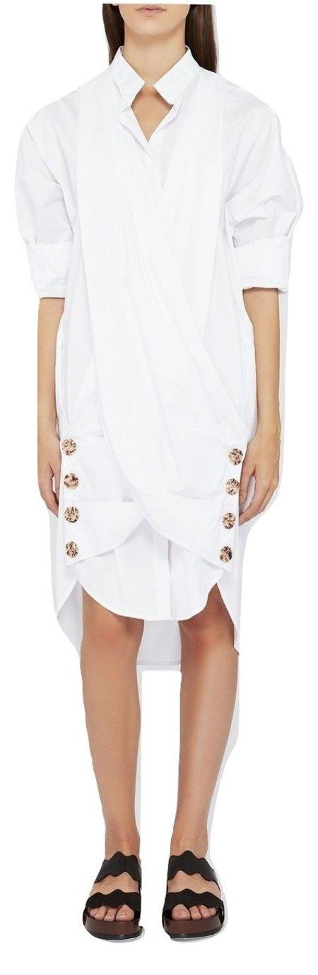 Acler Palma Shirt Dress - White