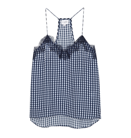 Cami NYC Racer Charm Cami Top - Navy Gingham