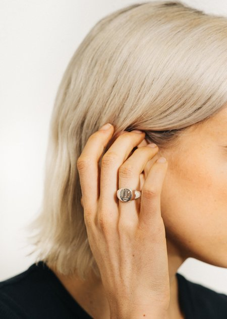 Wolf Circus Matisse Face Ring - Silver