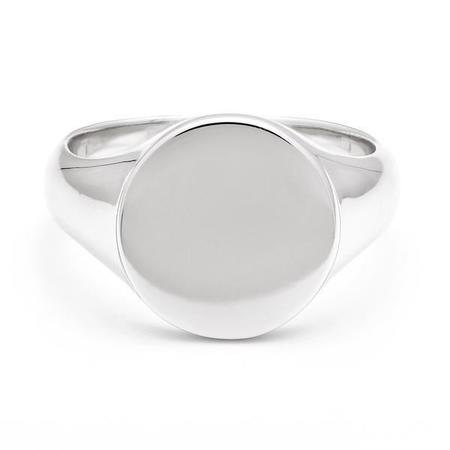 Melanie Auld Signet Ring - RHODIUM