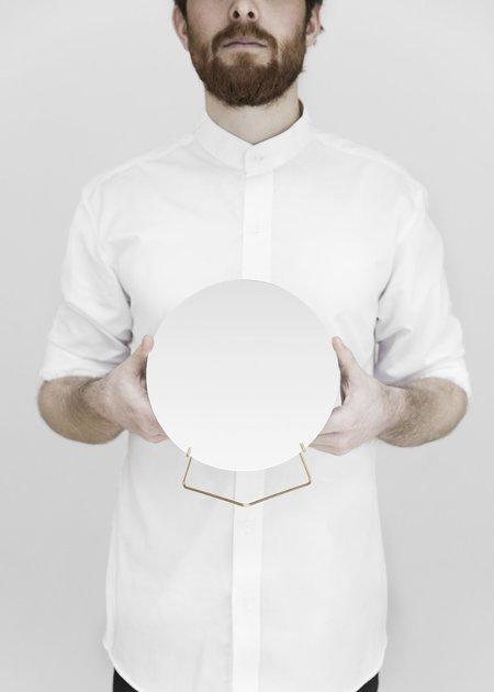 Moebe Standing Mirror - Brass