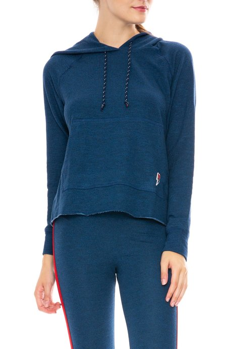 Sundry Love Patch Hoodie Sweatshirt - Ocean