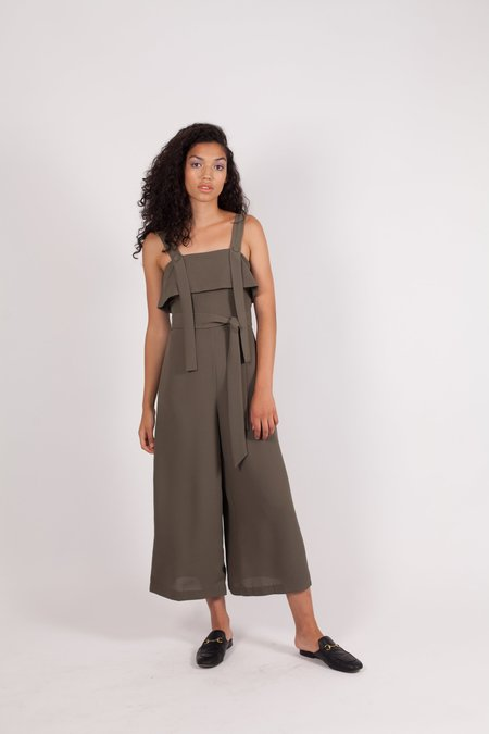 Finders Keepers Vision Jumpsuit - KHAKI