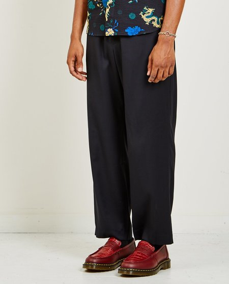 A Kind of Guise TALUNG WIDE WOOL TROUSERS - MIDNIGHT