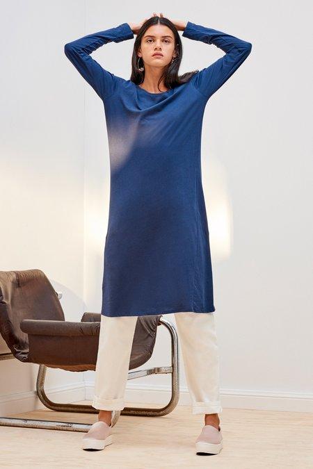Kowtow Building Block Long Sleeve Dress - Navy Blue
