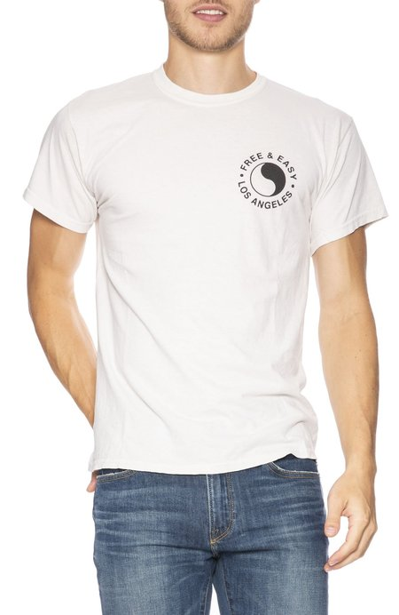 Free & Easy Chains and Roses T-Shirt - Dirty White