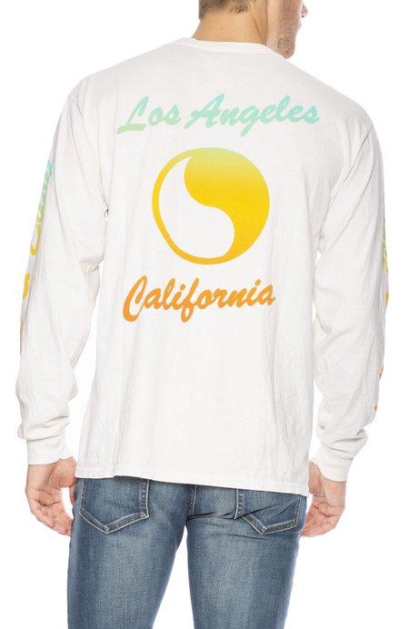 Free & Easy Sunset Long Sleeve T-Shirt - Dirty White