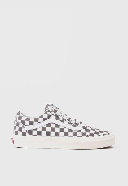 Vans Old Skool Checkerboard Shoe - Pewter/Marshmellow